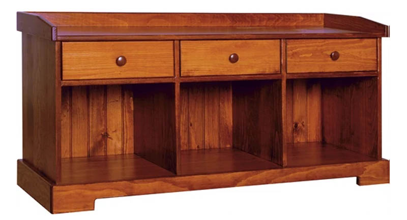 1382 - 50 Inch Bench with Drawers - 50 x 16.5 x 24 h