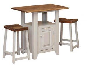 1472 - Kitchen Island - 36 w x 24 d x 36 h + 1531 24 Inch Saddle Stool