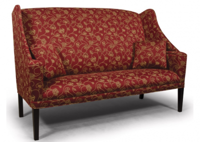 1680 - Oak Shelf Arm Sofa with Shaker Leg - 72 w x 35 d x 49 h