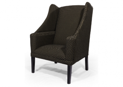 1681 - Oak Shelf Arm Chair with Shaker Leg - 33 w x 35 d x 49 h