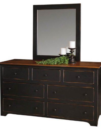 18 - 68 Inch Dresser - 68 x 19 x 36 h + 20 - Mirror - 36 w x 40 h