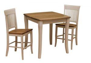 1801 - Cambridge Solid Top Table - 36 x 36 x 36 h + 241506 - 24 Inch Cambridge Bar Stool