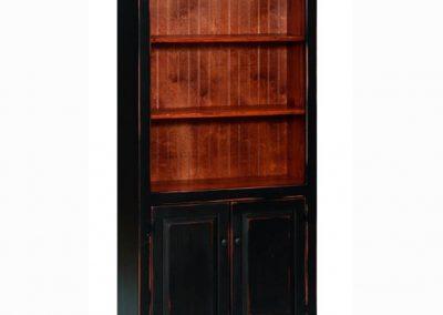 41D - Six Foot Bookcase with Doors - 36 w x 13 d x 72 h