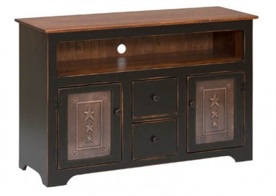60T - TV Console with Drawers & Tin - 50 w x 17 d x 32 h
