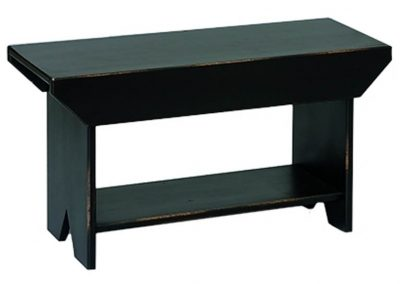 63 - Three Foot Bench with Shelf - 36 x 13 x 17 h