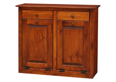 66D - Double Trashcan Cabinet - 41 w x 13 d x 35 h