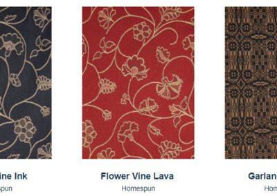 Fabrics Gallery Homespun Flower Vine and Garland