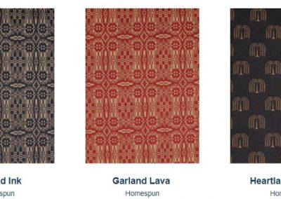 Fabrics Gallery Homespun Garland and Heartland