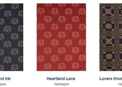Fabrics Gallery Homespun Heartland and Lovers Knot