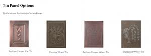 Tin Panel Options - JK Pine Craft